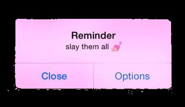 reminder iphone slay pink freetoedit