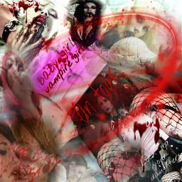 freetoedit gothgirl vampiregirl dark bloodlust