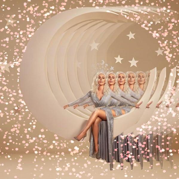 Instagram/YouTube: Margo Picsart @margo34277 #freetoedit #remixit #glitter #glow #makeup #dress #hudabeauty #moon #stars #shoes