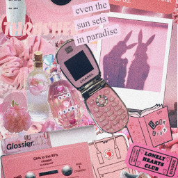 collage aesthetic pink babypink art freetoedit