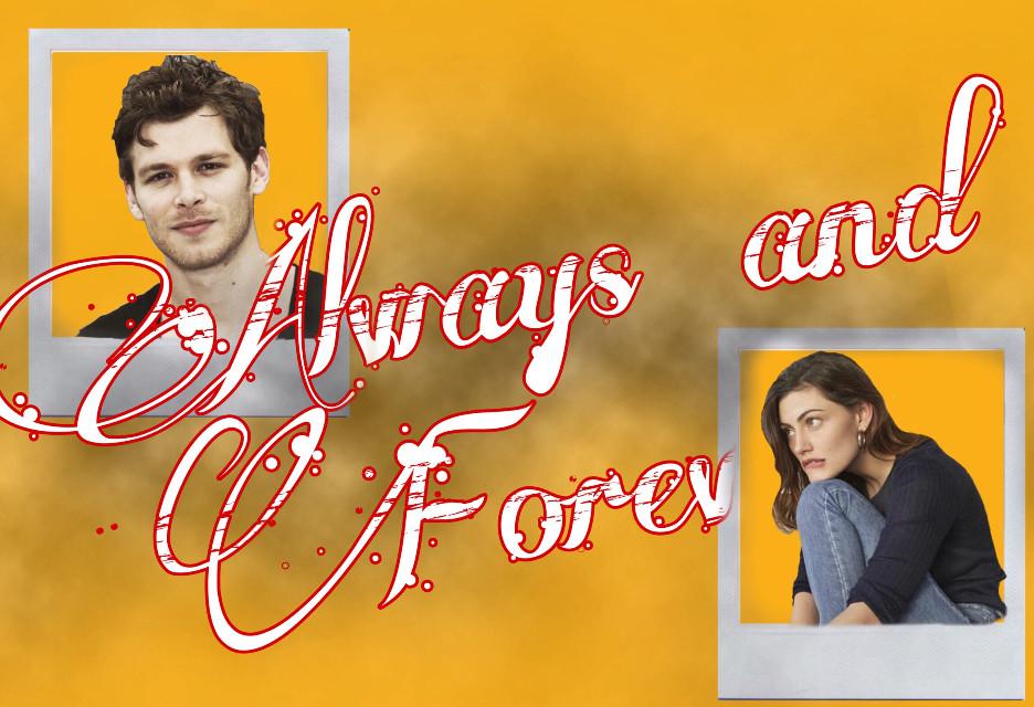 Always and Forever 🌻 #theoriginals #haleymarshall #klausmikaelson #like #yellow #alwaysandforever