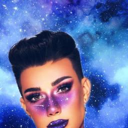 ecgalaxymakeup galaxymakeup freetoedit jamescharles galaxy