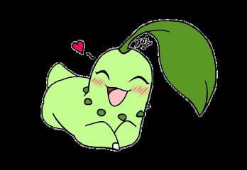 chikorita pokemon enamorado freetoedit
