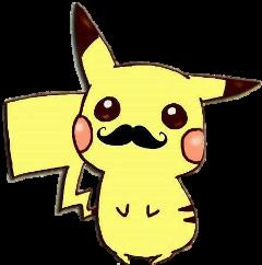 mostacho bigote pikachu hipster pokemon freetoedit