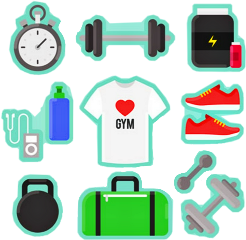 scgymgear gymgear weights clock shoes freetoedit