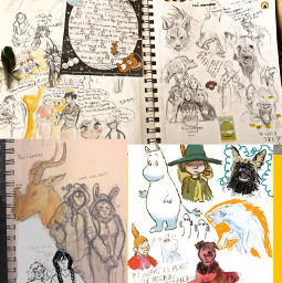 sketchbook fanart moomin homestuck homestuckepilouges