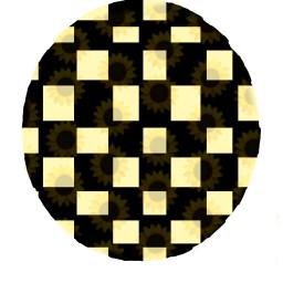 freetoedit circle sunflower yellow cool