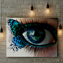 freetoedit eye blueeye blue butterfly ecdispersion