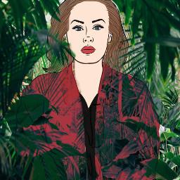 freetoedit adele singer jungle picsart contest green nature red sing woman girl wild ircadelefanart adelefanart