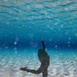 freetoedit dancing underwater water sea ircdancinginthelight
