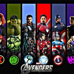 ironman captainamerica thor hulk hawkeye freetoedit