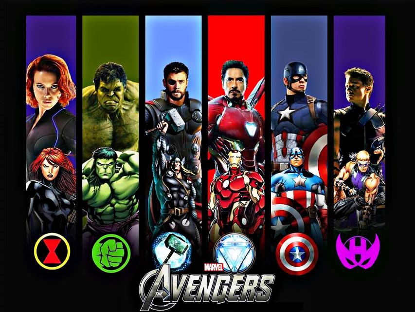 Avengers! #ironman #captainamerica #thor #hulk #hawkeye #blackwidow #marvelstudios #marvelcomics  #freetoedit