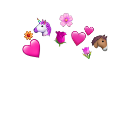 emoji horse flowers red click freetoedit
