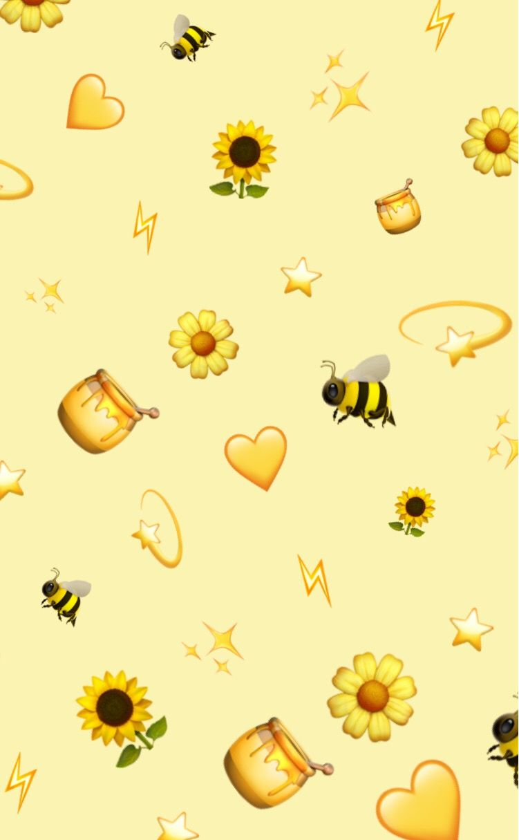 V2!~ yellow pattern patternator aesthetic emoji backgr