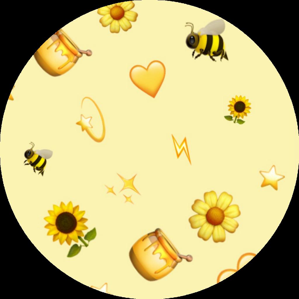 💛 yellow pattern patternator aesthetic emoji backgrou