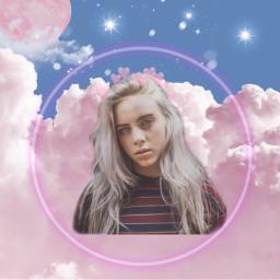 freetoedit billieeilish music moon cloud