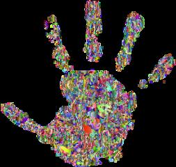 hand glitch colorful handprint screen freetoedit