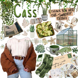 clothes outfit plants green aesthetic freetoedit