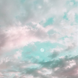 myphotography sky clouds moon freetoedit