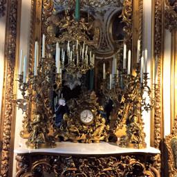 pcclock clock castle linderhof bavaria freetoedit
