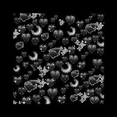 black blackemoji blackheart смайл moon freetoedit