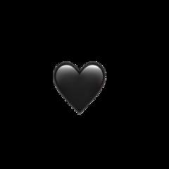 black heart blackheart emoji heartemoji freetoedit