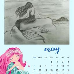 ircmaycalendar maycalendar freetoedit forall mermaid