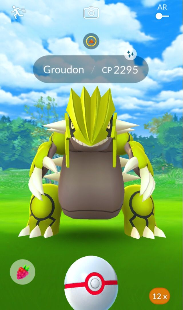 First Raid Magic Pokemon Pokemongo Groudon Raid Shin