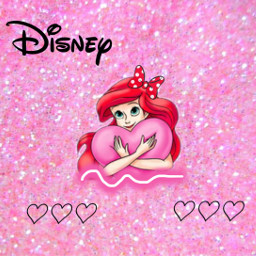 freetoedit disney ariel didneyedit pink