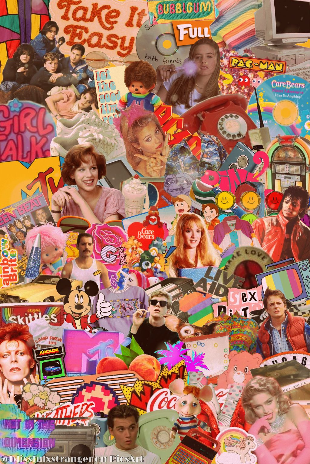 Me? Making ANOTHER super-busy 80's aesthetic? Never......