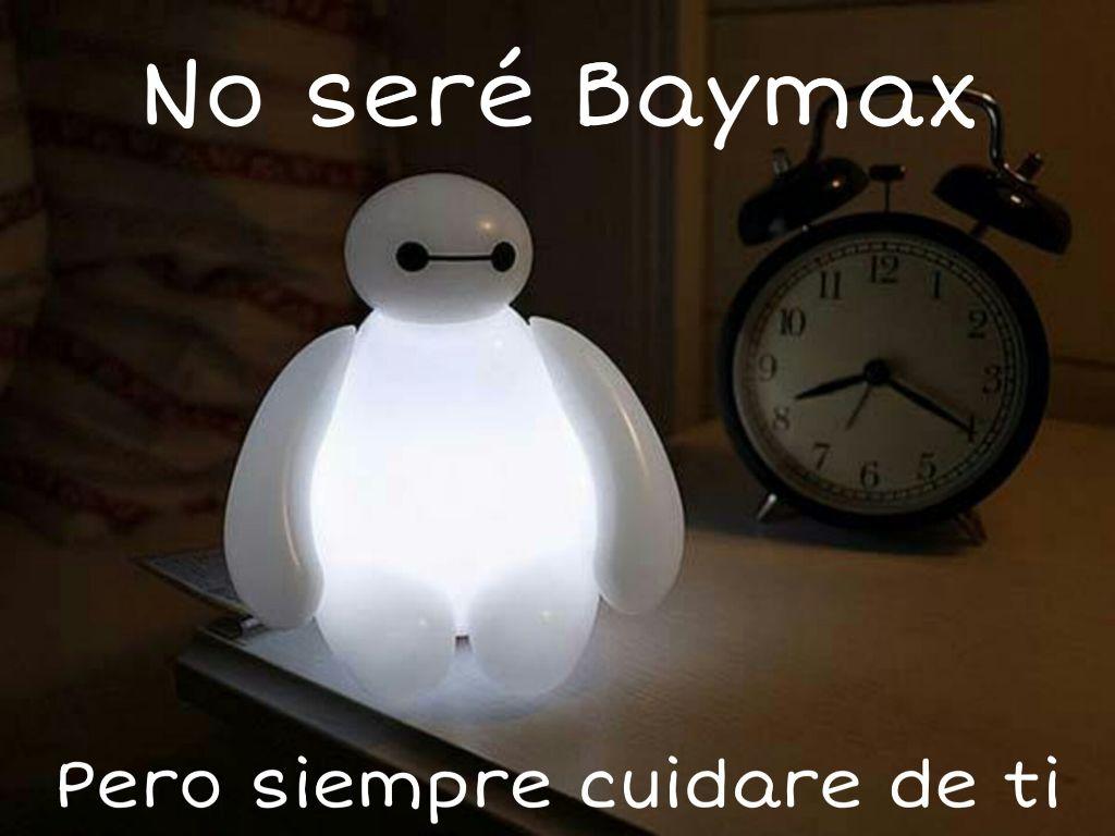 Baymax Lampara Frase Grandesheroes Cuidar Amor