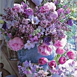 freetoedit flowers hdreffect purples pinks