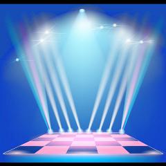 stage lights navyblue colorful colorsplash stickersfreetoedit freetoedit