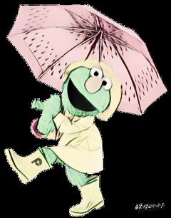 cartoon frog umbrella picsartpassion_de myedit fte ftestickers freetoedit