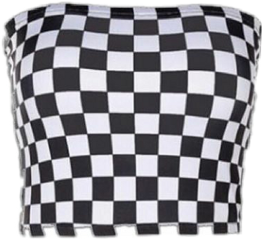 checkered checkers croptop tubetop aesthetic freetoedit