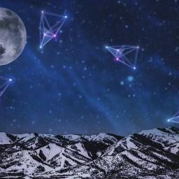 freetoedit moon stars constellations night