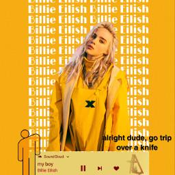 billie billieeilish myboy yellow yellowaesthetic freetoedit