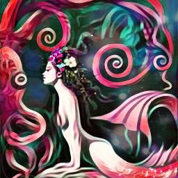 freetoedit crown mermaid octopus brusheffect scales srcmermaidcrown
