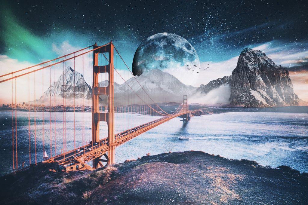 #freetoedit Explore your mind. #hdr #co #fun #magic #explore #bridge #moon @picsart @freetoedit