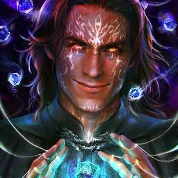 fantasy fullcolor abstract magic player