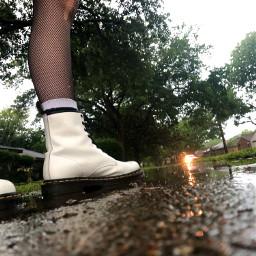 photograpy boots rain puddle reflection freetoedit