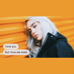 orange billieeilish bg text sarcasm freetoedit