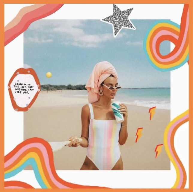 What can we say, we're a sucker for awesome collages 🤷♀️😍🤷♂️ Shoutout to @ashley_ep #collage #colors #beach #glitter #freetoedit