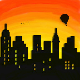 freetoedit drawing building sunset shadow