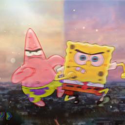 freetoedit spongebob spongebobandpatrick bestfriends photography