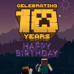 freetoedit minecraft minecraftart minecraftedit happybirthday