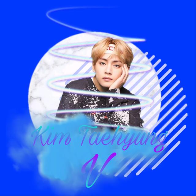 Taehyung <3 #bts #kpop #edit #kim #kimtaehyung #taehyung #blue #purple #bb #cutie #circles #dust #enjoy