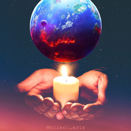 freetoedit planet moon red candle