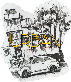 porshe sketch urban city town freetoedit