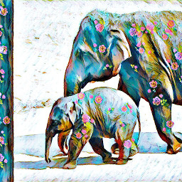 elephant motheranddaughter animalfriends